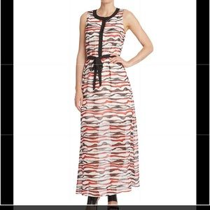 Like new Kensie watercolor stripe maxi dress Sz S